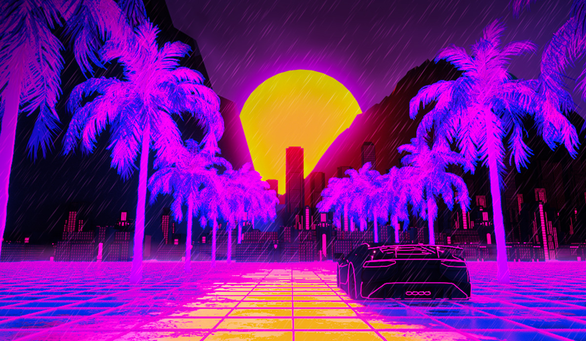 Synthwave PosterView project